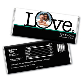 Wedding Favor Personalized Chocolate Bar Big Love Photo Cameo