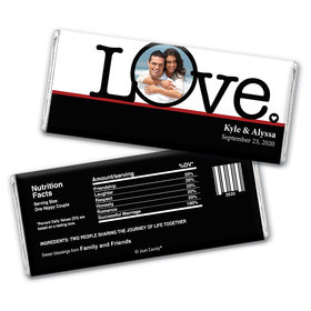 Love's the Word Personalized Candy Bar - Wrapper Only