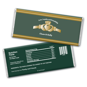 Irish Love Personalized Candy Bar - Wrapper Only