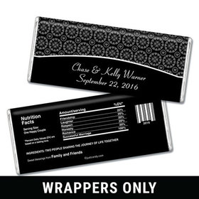 Ever After Personalized Chocolate Bar Wrappers