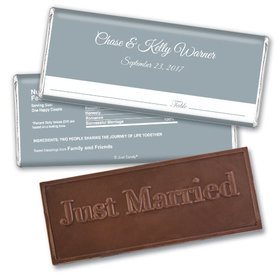 Personalized Wedding Favor Embossed Chocolate Bar