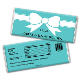 Garters and Bows Personalized Candy Bar - Wrapper Only