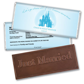 Personalized Wedding Favor Embossed Chocolate Bar Magic Kingdom Theme