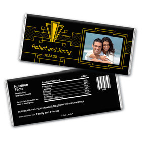 Gatsby Gala Personalized Candy Bar - Wrapper Only