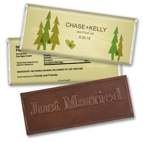 Personalized Wedding Favor Embossed Chocolate Bar Forest