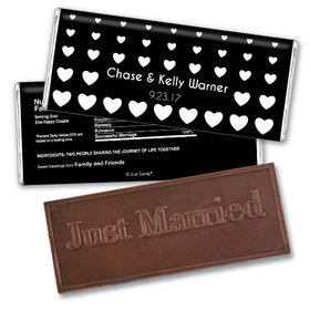 Fallen for You Personalized Embossed Bar Assembled
