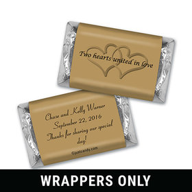 Two Hearts Personalized Miniature Wrappers
