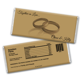 Together In Love Personalized Candy Bar - Wrapper Only