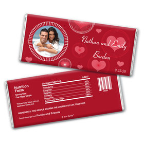 Wedding Romance Personalized Candy Bar - Wrapper Only