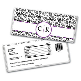 Parisian Seal Personalized Candy Bar - Wrapper Only