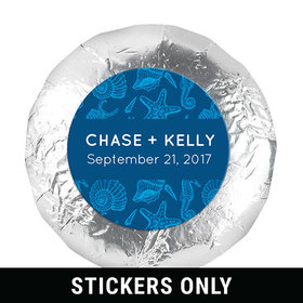 "Personalized Wedding Ocean Animals 1.25"" Sticker (48 Stickers)"