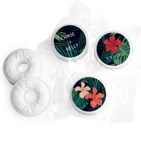 Personalized Mints Tropical Flowers Wedding Favors