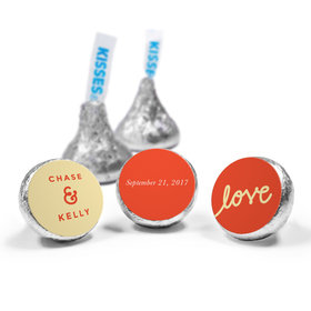Personalized HERSHEY'S KISSES Script Love Wedding Favors (50 Pack)