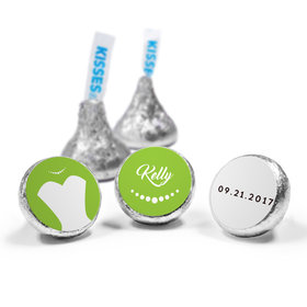 Personalized HERSHEY'S KISSES Bride's Dress Wedding Favors (50 Pack)