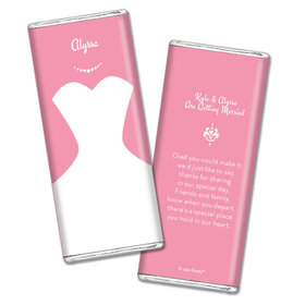 Personalized Chocolate Bar Wrappers Bride's Dress Wedding Favors