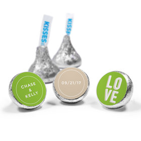 Personalized HERSHEY'S KISSES Bold Love Wedding Favors (50 Pack)