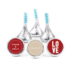 "Personalized 3/4"" Sticker Bold Love Wedding Favors"