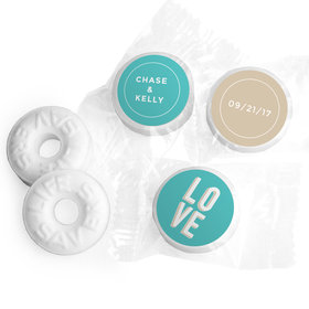 Personalized Mints Bold Love Wedding Favors