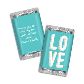 Personalized HERSHEY'S MINIATURES Wrappers Bold Love Wedding Favors