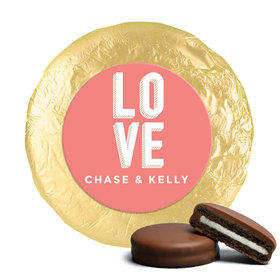 Personalized Wedding Bold Love Milk Chocolate Covered Oreo Cookies (24 Pack)