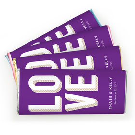 Personalized Chocolate Bar Bold Love Wedding Favors