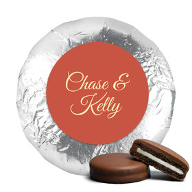 Personalized Wedding Paris in the Fall Milk Chocolate Covered Oreo Cookies with Silver Foil
