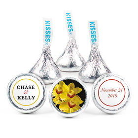 Personalized HERSHEY'S KISSES Yellow Flower Wedding Favors (50 Pack)