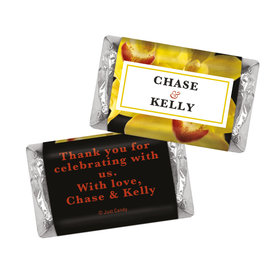 Personalized HERSHEY'S MINIATURES Yellow Flower Wedding Favors