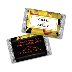Personalized HERSHEY'S MINIATURES Wrappers Yellow Flower Wedding Favors