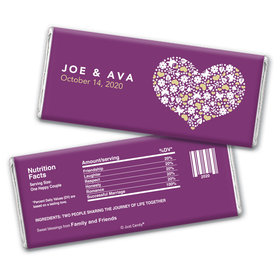 Personalized Chocolate Bar Wrappers Heart of Life Wedding Favors