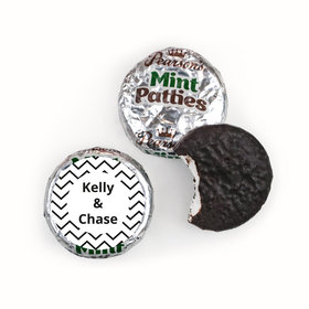Personalized Wedding Chevron Party Pearson™s Mint Patties