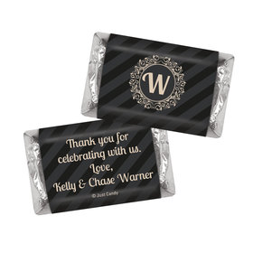Wedding Favors Personalized Hershey's Miniatures Regal Stripes Chocolate Favor