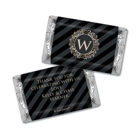 Wedding Favors Personalized Hershey's Miniatures Wrappers Regal Stripes Chocolate Favor