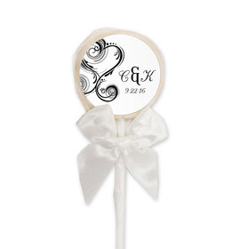 Wedding Favor Personalized White Lollipop Together Forever (24 Pack)