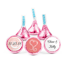 Personalized Wedding Reception Swirled Heart Hershey's Kisses (50 pack)