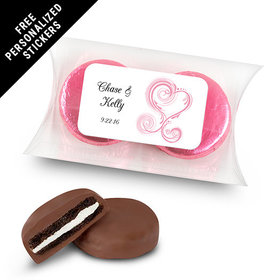 Wedding Favor Personalized Pillow Box Formal Heart (25 Pack)