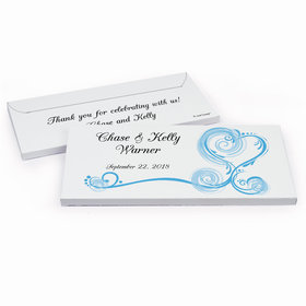 Deluxe Personalized Regal Elegance Wedding Hershey's Chocolate Bar in Gift Box