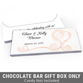 Deluxe Personalized Regal Elegance Wedding Candy Bar Favor Box