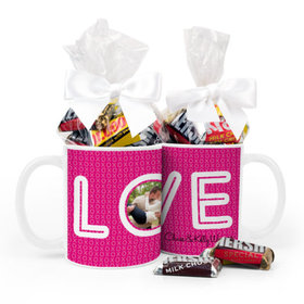 Personalized Wedding XOXO 11oz Mug with Hershey's Miniatures