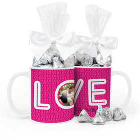 Personalized Wedding XOXO 15oz Mug with Hershey's Kisses