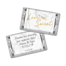 Personalized Wedding Love is Sweet Marble Hershey's Miniatures