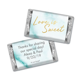 Personalized Wedding Love is Sweet Marble Hershey's Miniatures Wrappers