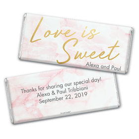 Personalized Wedding Love is Sweet Marble Chocolate Bar