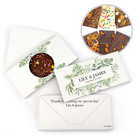 Personalized Botanical Love Wedding Gourmet Infused Belgian Chocolate Bars (3.5oz)
