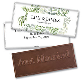 Personalized Wedding Botanical Love Embossed Chocolate Bar