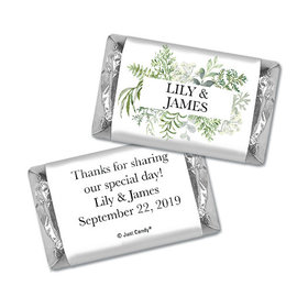 Personalized Wedding Botanical Love Hershey's Miniatures Wrappers