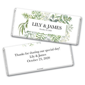 Personalized Wedding Botanical Love Chocolate Bar Wrappers