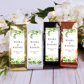 Personalized Wedding Columbian Coffee - Whimsical Greenery