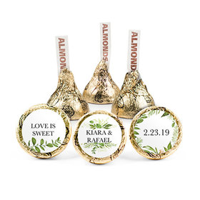 Personalized Wedding Reception Whimsical Greenery Hershey's Kisses (50 pack)