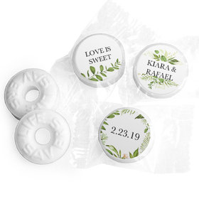 Personalized Life Savers Mints - Wedding Botanical Greenery